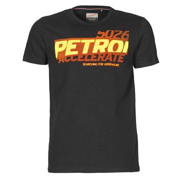 Oblečenie Muži Tričká s krátkym rukávom Petrol Industries T-SHIRT SS R-NECK F Čierna