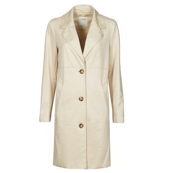 Oblečenie Ženy Kabáty Esprit SUEDE COAT Béžová