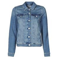 Oblečenie Ženy Džínsové bundy Esprit JOGGER JACKET Modrá