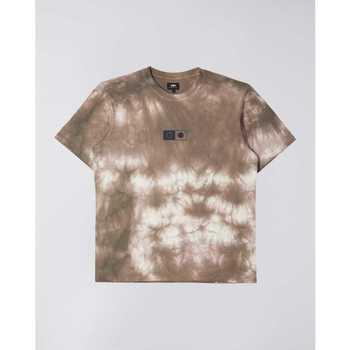Oblečenie Muži Tričká s krátkym rukávom Edwin T-shirt  Synergy marron/blanc
