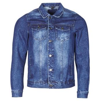 Oblečenie Muži Džínsové bundy Yurban OPSI Modrá / Medium