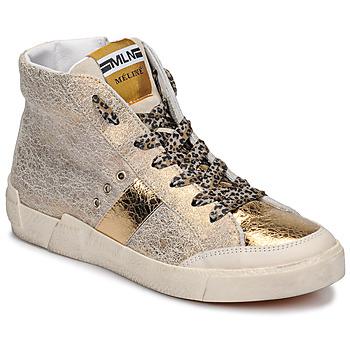 Topánky Ženy Členkové tenisky Meline NK1384 Zlatá