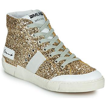 Topánky Ženy Členkové tenisky Meline NKC1369 Zlatá