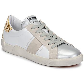 Topánky Ženy Nízke tenisky Meline NK1381 Biela / Béžová