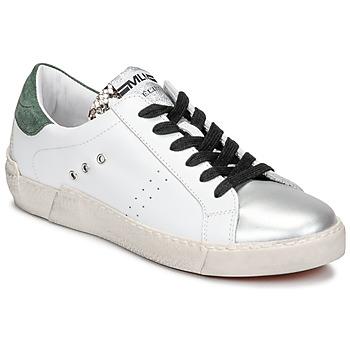 Topánky Ženy Nízke tenisky Meline NKC1392 Biela / Zelená