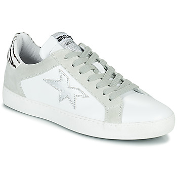 Topánky Ženy Nízke tenisky Meline KUC256 Biela / Strieborná / Zebra