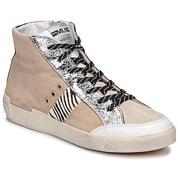 Topánky Ženy Nízke tenisky Meline NK1384 Béžová / Zebra