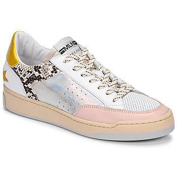 Topánky Ženy Nízke tenisky Meline BZ180 Biela / Ružová