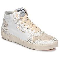 Topánky Ženy Členkové tenisky Meline NK1409 Biela / Croco