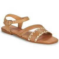 Topánky Ženy Sandále The Divine Factory TX4339 Ťavia hnedá