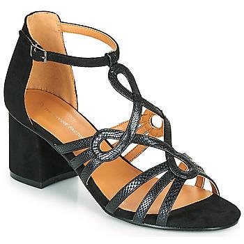 Topánky Ženy Sandále The Divine Factory QL4327 Čierna