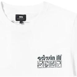 Oblečenie Muži Tričká s krátkym rukávom Edwin T-shirt  Hokusai Noh Masks blanc/noir