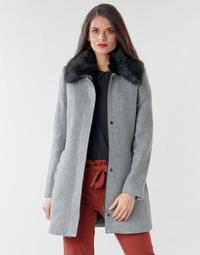 Oblečenie Ženy Kabáty Naf Naf AROUSSA Šedá