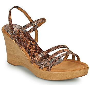 Topánky Ženy Sandále Unisa RENERA Hnedá / Hadí vzor