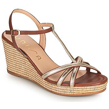 Topánky Ženy Sandále Unisa LLINAR Zlatá