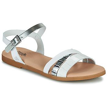 Topánky Dievčatá Sandále Citrouille et Compagnie OBINOU Biela / Strieborná