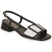 Topánky Ženy Sandále Fericelli PANILA Čierna / Biela