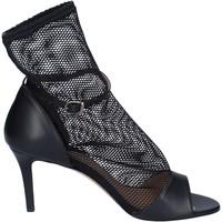 Topánky Ženy Sandále Stephen Good Sandali Pelle Tessuto Nero