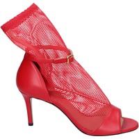 Topánky Ženy Sandále Stephen Good Sandali Pelle Tessuto Rosso