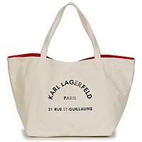 Tašky Ženy Veľké nákupné tašky  Karl Lagerfeld RUE ST GUILLAUE CANVAS TOTE Krémová