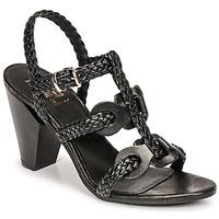 Topánky Ženy Sandále Mimmu TRECCIA-P-NERO Čierna