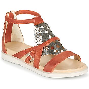 Topánky Ženy Sandále Mjus KETTA Červená tehlová / Strieborná