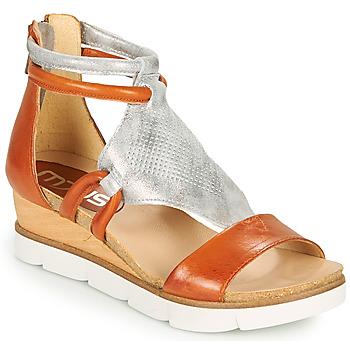 Topánky Ženy Sandále Mjus TAPASITA Červená tehlová / Strieborná