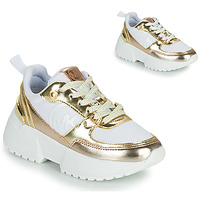 Topánky Dievčatá Nízke tenisky MICHAEL Michael Kors COSMO SPORT Biela / Zlatá