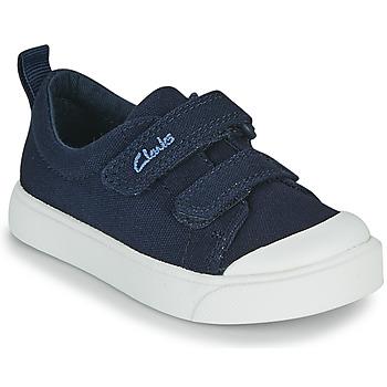 Topánky Deti Nízke tenisky Clarks CITY BRIGHT T Námornícka modrá