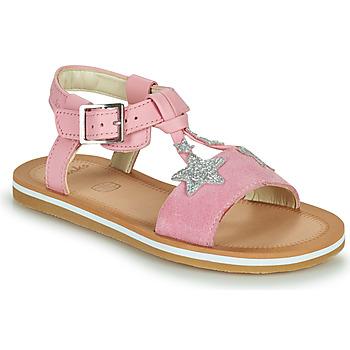 Topánky Dievčatá Sandále Clarks FINCH SUMMER K Ružová