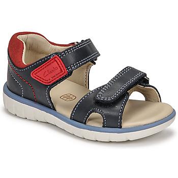 Topánky Chlapci Sandále Clarks ROAM SURF K Námornícka modrá / Červená