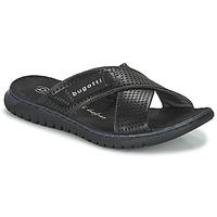 Topánky Muži športové šľapky Bugatti IDAHO Čierna