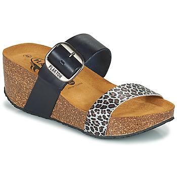 Topánky Ženy Šľapky Plakton SO ROCK Modrá / Leopard