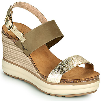 Topánky Ženy Sandále Plakton PLAKA Kaki / Zlatá