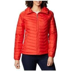 Oblečenie Ženy Saká a blejzre Columbia WM Powder Lite Hooded Jacket Červená