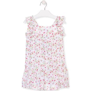 Oblečenie Dievčatá Krátke šaty Losan 016-7031AL Biely