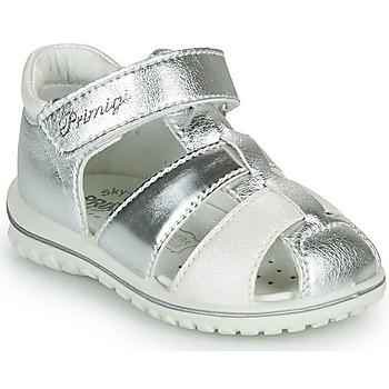 Topánky Dievčatá Sandále Primigi GABBY Strieborná / Biela