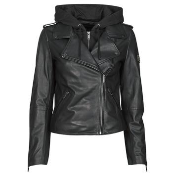 Oblečenie Ženy Kožené bundy a syntetické bundy Ikks BS48015-02 Čierna