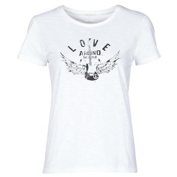 Oblečenie Ženy Tričká s krátkym rukávom Ikks BS10185-11 Krémová