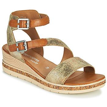 Topánky Ženy Sandále Remonte Dorndorf BALANCE Zlatá / Hnedá
