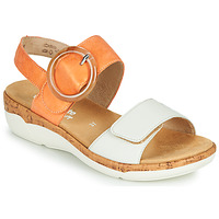 Topánky Ženy Sandále Remonte Dorndorf ORAN Oranžová / Biela