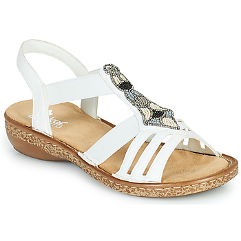 Topánky Ženy Sandále Rieker DOLNA Biela