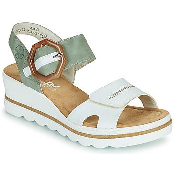 Topánky Ženy Sandále Rieker SOLLA Zelená / Biela