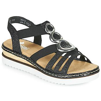 Topánky Ženy Sandále Rieker FANNI Modrá