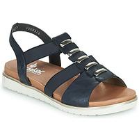Topánky Ženy Sandále Rieker NINNA Modrá