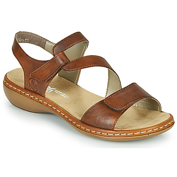 Topánky Ženy Sandále Rieker ZAZIE Hnedá