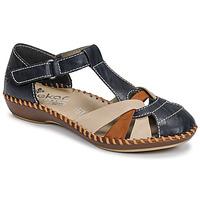 Topánky Ženy Sandále Rieker BLUE Modrá / Hnedá