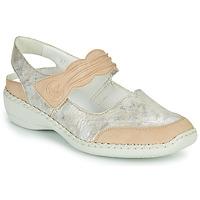 Topánky Ženy Sandále Rieker ALINA Strieborná