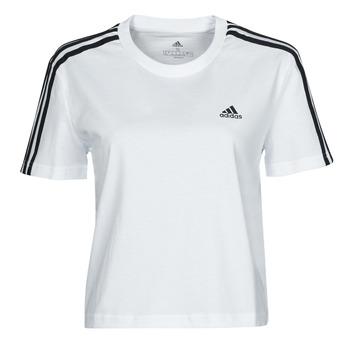 Oblečenie Ženy Tričká s krátkym rukávom adidas Performance W 3S CRO T Biela