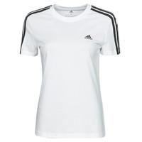 Oblečenie Ženy Tričká s krátkym rukávom adidas Performance W 3S T Biela